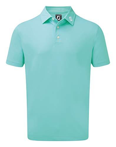 Footjoy Stetch Pique Solid Shirts Polo, Verde (Verde Agua 90069), Small (Tamaño del Fabricante:S) para Hombre
