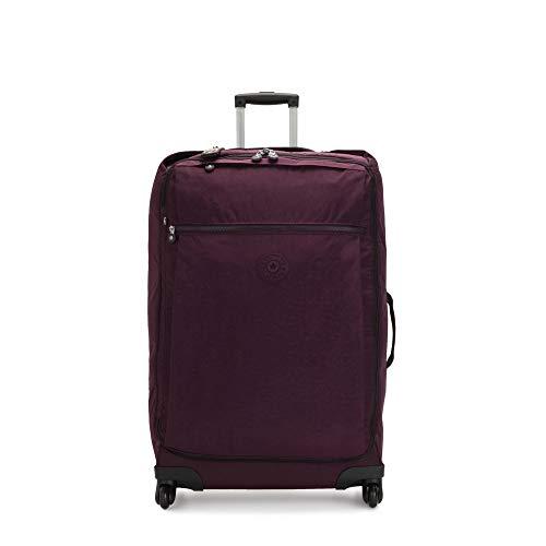 Kipling Women's Darcey Large Rolling Luggage Weekender Bag, Dark Plum, One Size