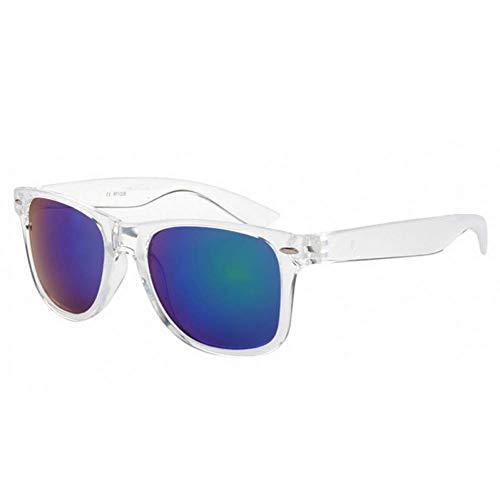 YXDEW Gafas de Sol de Espejo Reflectante Mujeres Men Square capítulo Transparente Gafas de Sol de Colores Hombre Mujer UV400,Gafas (Color : Style2)