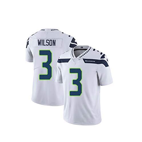 Seahawks # 3 Madden Football Americano Jersey Bianco Gioco Jersey Pulizia White-M