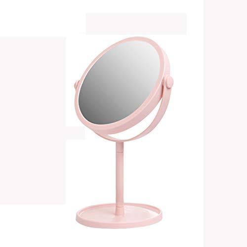Miroir de Maquillage de 6 Pouces, Grand Miroir de Maquillage Portable de Table pivotant, Hauteur de 13 Pouces,Pink,M