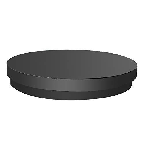 DENGS 360 ° Drehung Drehscheibe Drehteller, Elektrish Rotierende Drehteller mit Fernbedienung, 80 kg Last, Plug-In-Verwendung/Schwarz / 450×55mm