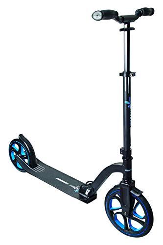 Muuwmi Unisex Jugend Aluminium Scooter Pro 250 mm, schwarz/blau, One Size