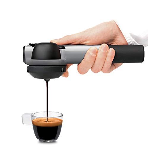 Handpresso HPWILDHYBRIDGREY Wild Hybrid Espresso Machine, Silver