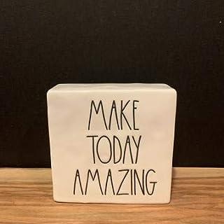 "Rae Dunn""MAKE TODAY AMAZING"" Paperweight - ceramic - office desk organizer"