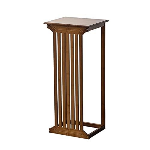 XIAOSAKU Pedestal de Bonsai Pantalla de bambú Soporte Estilo Chino Estante de Flores Sala de Estar Sala de Estar Piso Pendiente Interior Bonsai Stand Stand Stand Retro Flower Mesa Florero Bonsai Base