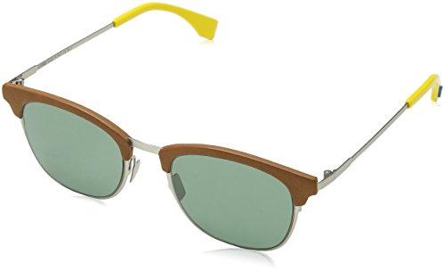 FENDI FF 0228/S QT VGV Gafas de Sol, Verde (Silver Green/Green), 50 para Hombre