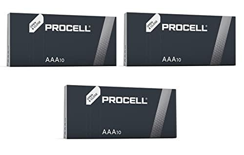 Duracell Procell Industrial MN2400 - Confezione da 30 batterie di ricambio originali, alcaline, LR04, AAA