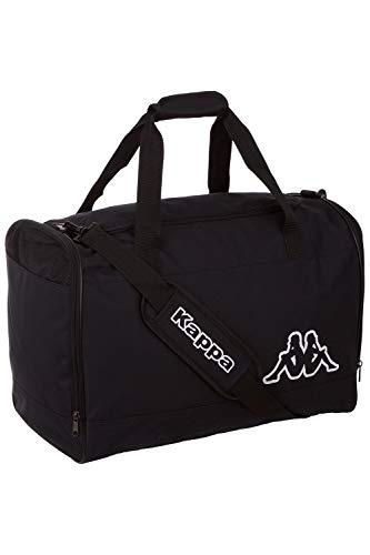 Kappa Sporttasche VIGRA, geräumige Trainings-Tasche für Sport und Freizeit, für Frauen und Männer, leichtes & Robustes Material, Maße: 50cm x 30cm x 35cm, Farbe Caviar