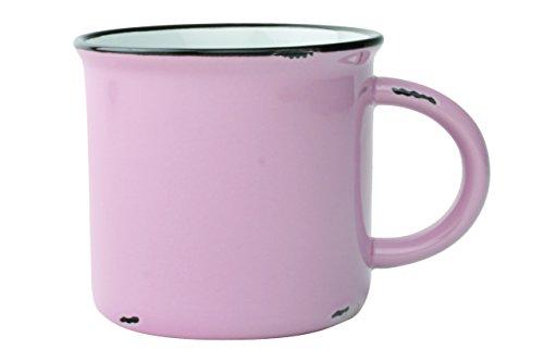 Canvas Home 4-Piece Enamelware Mug Set, Pink