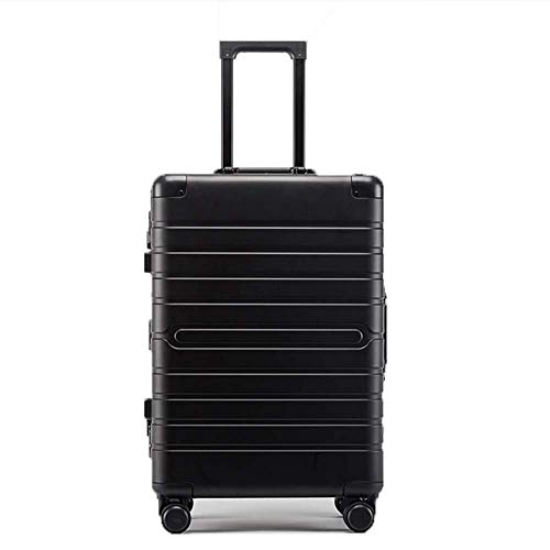XKstyle Luggage Trolley Suitcase Can Carry Unlimited Aluminum Shifter Carts Trolley Lightweight And Durable Luggage (size: 24 Inches) (Color : Black, Size : 20')