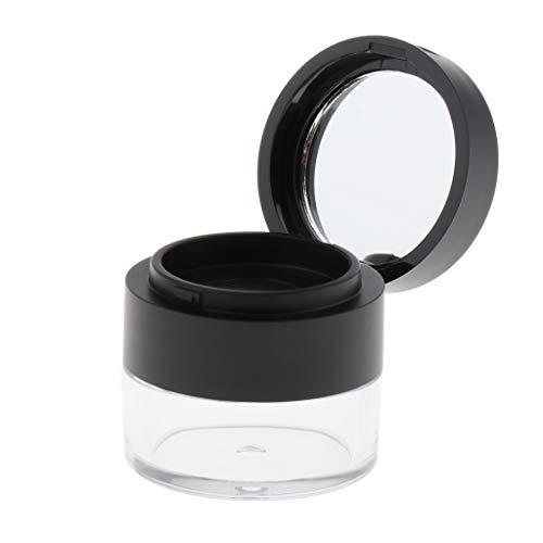 MERIGLARE Boîtier En Poudre Pour Le Visage Vide Pot En Plastique Rond Compact Avec Tamis