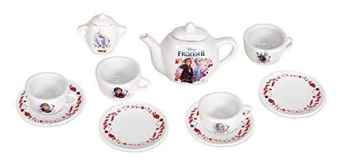 Smoby - Die Eiskönigin 2 Porzellan-Service - 10-tlg Spielzeuggeschirr-Set mit Tasse, Teller, Zuckerdose, Teekanne, mit Aufdruck, für Kinder ab 3 Jahren