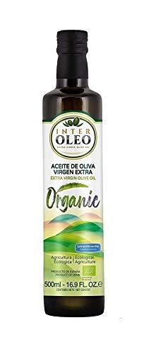 Interoleo - Natives Olivenöl Extra. Frühernte. Picual sortenrein. Kaltgepresst. Glasflasche 500 ml (Bio)
