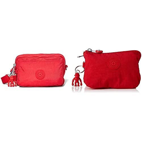Kipling Damen ABANU Multi Crossbody, Red Rot, 19x13x8 cm (B x H x T) Damen Creativity S Pouches/Cases, Red Rot, 4x14.5x9.5 cm