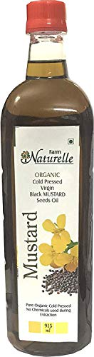 Kachi Ghani Mustard Oil (Virgin Cold Pressed) - 915 ML (30.93 OZ) - Certified