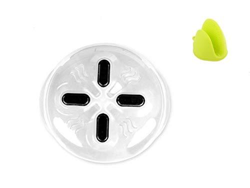 Yangyme Magnet-Mikrowellen-Spritzschutz-Deckel, Mikrowellen-Abdeckung mit Dampföffnung, Silikon-Ofenhandschuh, wiederverwendbar, spülmaschinenfest, BPA-frei, Tellerabdeckung