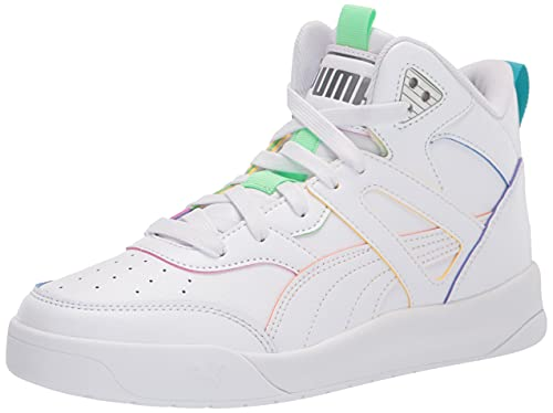 PUMA Men's Backcourt Mid Sneaker, White, Numeric_4_Point_5