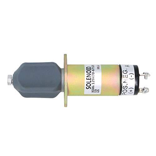 Notonparts 129470-67320 12V Fuel Shut off Stop Solenoid 1502-12A7U1B 1502-12D6U1B1S1A 1504-12A6U1B1S2 for Yanmar Diesel Engine 1504 12VDC 3 4 6 Cylinder -  129470-67320 1502-12A7U1B