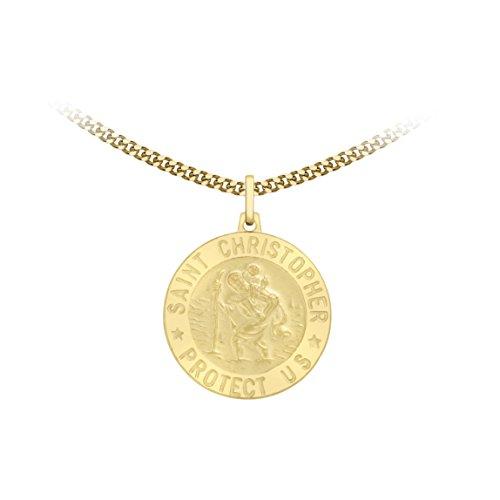 Carissima Gold - Collier Mixte - Médaille Saint Christophe -