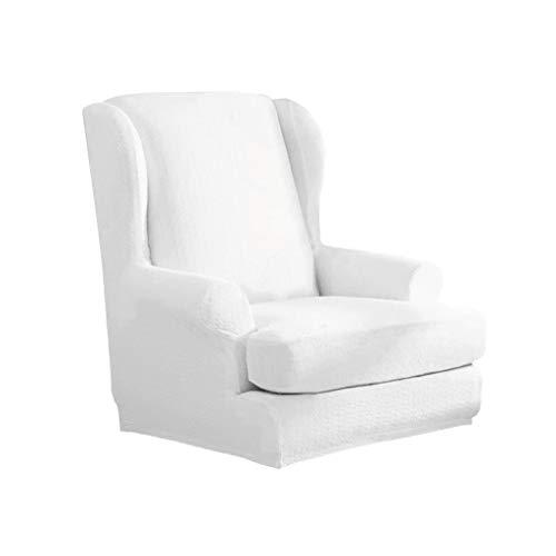 PETSOLA Sesselhusse Sesselbezug Sesselüberwurf elastische Stretchhusse für Ohrensessel - Weiß