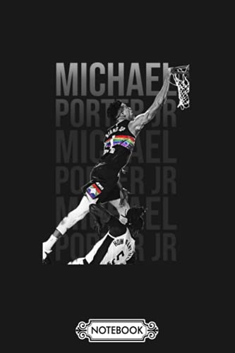 Michael Porter Jr Notebook: Planner, Matte Finish Cover, 6x9 120 Pages, Journal, Lined College Ruled Paper, Diary