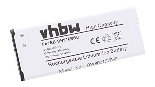 vhbw batería 3000mAh (3.85V) para teléfono móvil, Celular, Smartphone Samsung Galaxy Note...