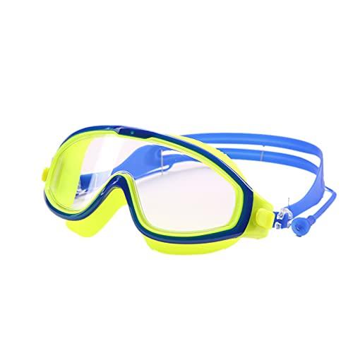 5665 Gafas de Natación para Niños,Gafas de Natación Cristalinas para Niños, Niños, Chicas, Impermeable, Gafas de Natación Sin Fugas con Vista Amplia,Yellow