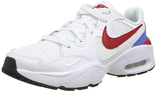 Nike Air Max Fusion, Scarpe da Corsa, White/Gym Red-Pacific Blue, 38.5 EU