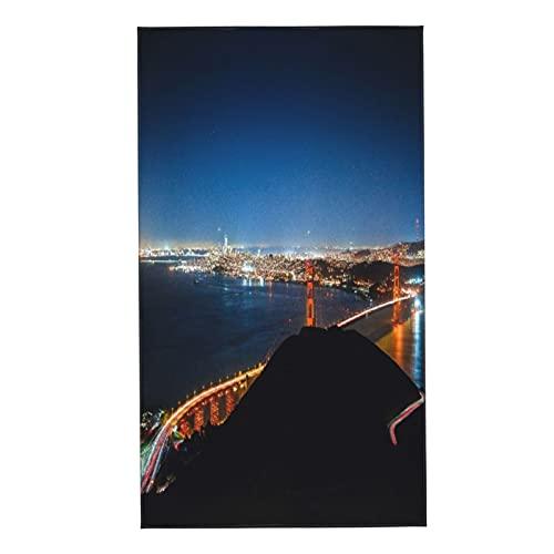 COFEIYISI Toalla de Mano Hermosa Foto del Puente Golden Gate Channel Tomada Desde Eagle Hill Toalla de baño pequeña para baño,Manos,Cara,Gimnasio y SPA súper Absorbente Ultra Suave 40x70cm