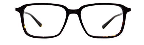 GLOBAL VISION Montatura per occhiali da vista da uomo in acetato - Made in Italy (C3 - Demi)