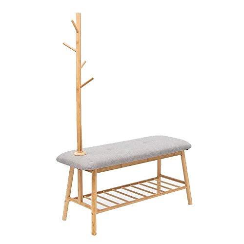 XZ15 kapstok met bank en opslag met opslag rek voor familie woonkamer boomvormige scherm kleding opslag planken jas afwerking