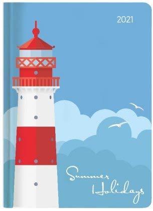 Ladytimer Grande Lighthouse - Taschenkalender A5 - Kalender 2021 - Alpha Edition-Verlag - Eine Woche auf 2 Seiten - Buchplaner mit Lesebändchen und Platz für Notizen - Format 14,8 cm x 20,8 cm