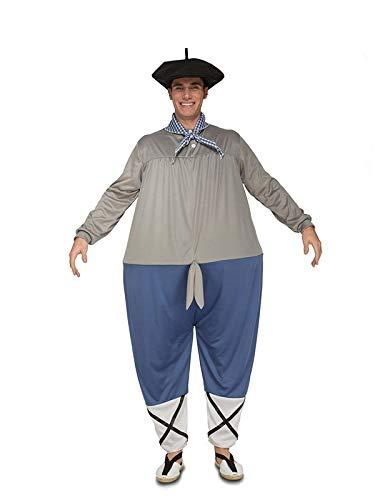 DISBACANAL Disfraz de Olentzero para Hombre - -, M-L