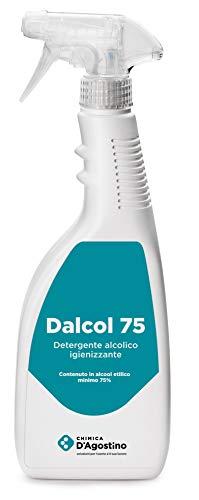 Chimica D'Agostino Dalcol 75 Detergente Alcolico Igienizzante Profumato, 750 Ml Spray, Contenuto In Alcool Etilico 75% - 600 gr
