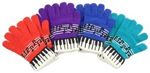 Gift House Music Keyboard Stretch Gloves - 1 Pair (Assorted Colors Available)