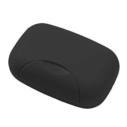 Nuodwell Kreative Seifenbox für unterwegs, handgefertigt, wasserdicht und auslaufsicher, mit Verschluss Schwarz