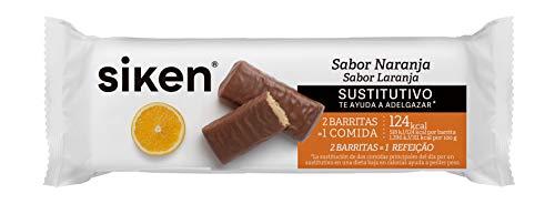 SIKEN barrita sustitutiva - Barrita con sabor a naranja de 44 g. 124,5 Kcal/barrita.