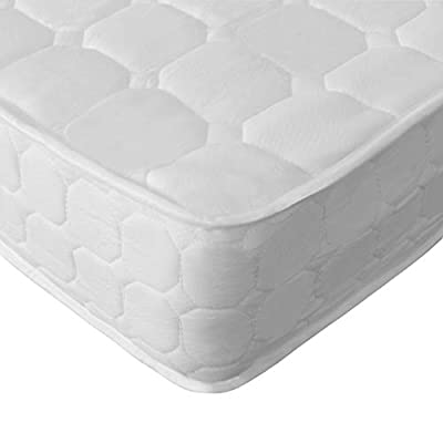 MonHouse Single, Double or King Size Bed Mattresses Memory Foam Coil Mattress Sprung Medium