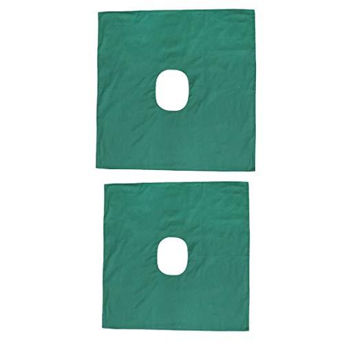 dailymall 2X Anti-Slip Massage Towel Sheet Cover Beauty Mattress Wit Face Breath Hole