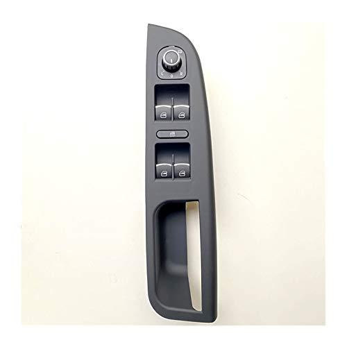 MSRRY Interruptor de la ventana del controlador izquierdo Panel de control del panel de control de la puerta de la puerta de la puerta del soporte de la ventana del automóvil 1k4 867 049 C VW GOLF JET