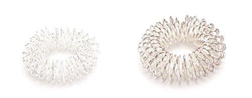 2 x Massageringe Yin & Yang Fingermassageringe Akupressur Energie-Ring Groß&Klein
