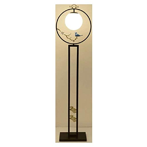 Ansongou Retro Lámpara de pie clásica Sala Zen Vertical lámpara de Mesa lámpara Moderna Palacio de Estilo Chino Dormitorio de la lámpara Estudio