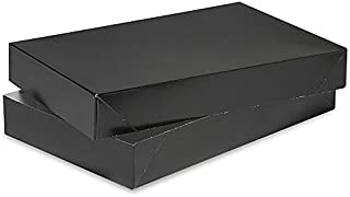A1BakerySupplies® Men Shirt Box Women Top Box Gift Boxes Wrap Boxes Apparel Gift Boxes with Lids 5 Pack (Black)