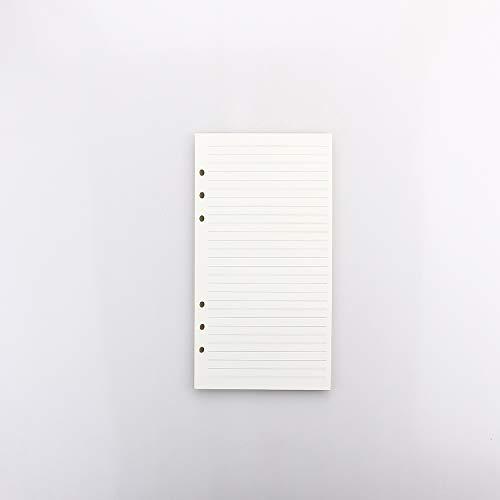 システム手帳 リフィル A5サイズ2冊入 カラーインデックス リフター付け 横罫 クリーム バインダー