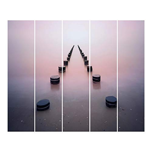 Bilderwelten Cortinas de Panel japonés Zen On The Beach Sin Montaje, 250 x 300cm