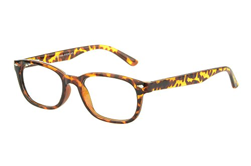 Edison & King Edison & King Moderne Brille im angesagten Nerd-Stil - inklusive Kunstederetui Stärken (Havana, 1,50 dpt)