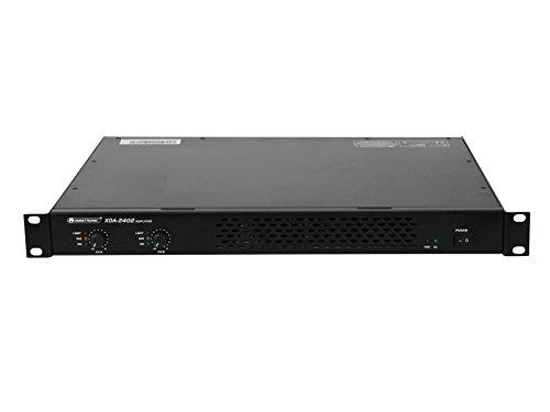 Omnitronic XDA-2402 Class-D-Verstärker | Stereo-PA-Verstärker mit Schaltnetzteil, 2 x 1200 W / 4 Ohm, 2 x 880 W / 8 Ohm | Geringes Gewicht und Bauhöhe durch integriertes Schaltnetzteil
