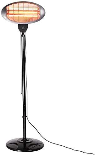 HZWLF Calentador de Patio al Aire Libre, Soporte de Altura Ajustable Independiente del Calentador, 3 configuraciones de calefacción 650 W, 1350 W, 2000 W