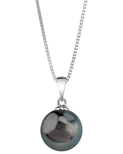 The Pearl Source Genuine Tahitian South Sea Cultured Pearl Sydney Pendant Necklace